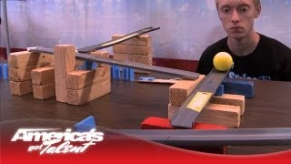 "Steve Price (aka ""Sprice"") Shows Off His Complex Rube Goldberg Machine - America's Got Talent"