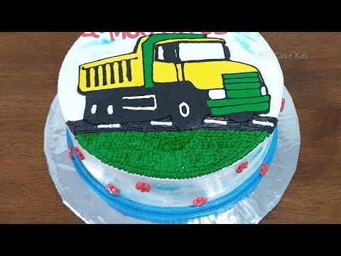Kue Ulang Tahun Anak Laki Laki Kue Ultah Mobil Truk Mainan Sederhana Youtube