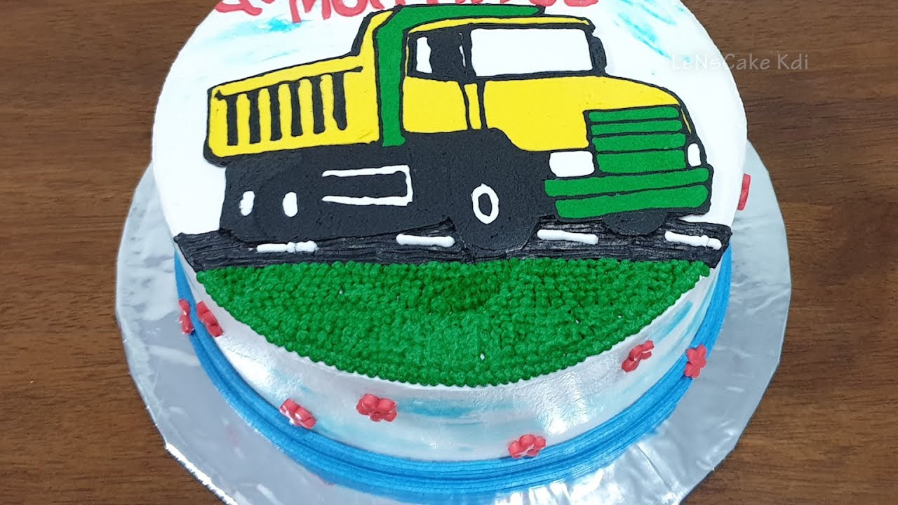 Birthday Cake For Kids Cars Cake Truck Toys Simple
