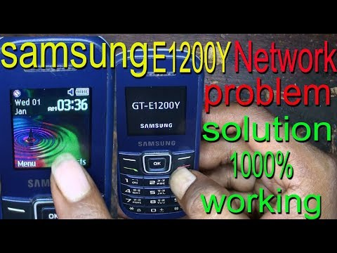 samsung e1200y network problem solution in 1000% working