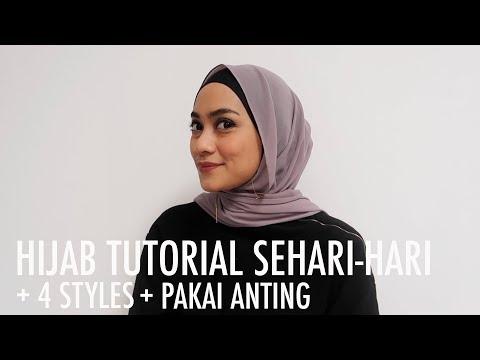 Ncip's Tips - 4 Styles Hijab Tutorial Sehari-hari (dan Cara Pakai Anting) - YouTube