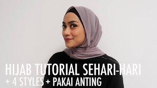 Ncip's Tips - 4 Styles Hijab Tutorial Sehari-hari (dan Cara Pakai Anting)