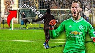 DAVID DE GEA TORWART FUßBALL CHALLENGE !