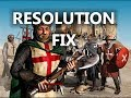 Stronghold Crusader input signal Out of range resolution fix