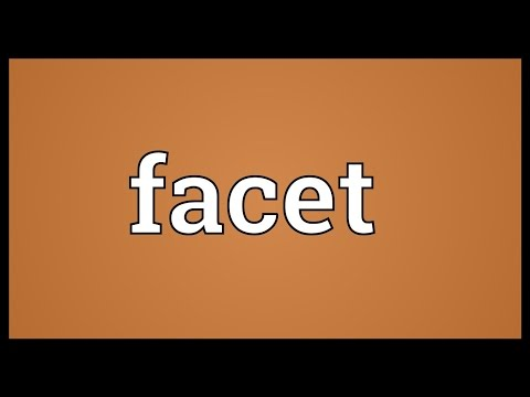 Facet Meaning