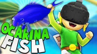 CATCHING AND PLAYING THE LEGENDARY OCARINA FISH! | Crazy Fishing VR HTC Vive