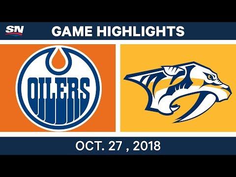 NHL Highlights | Oilers vs. Predators - Oct. 27, 2018