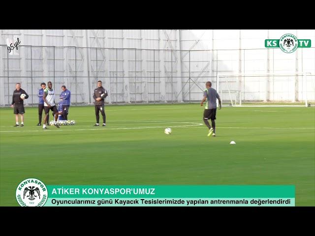 Takımımız yaptığı antrenmanla Bursaspor maçı hazırlıklarına devam etti