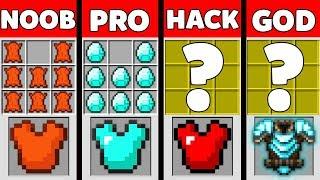 Minecraft Battle: NOOB vs PRO vs HACKER vs GOD : SUPER ARMOR Challenge in Minecraft Animation
