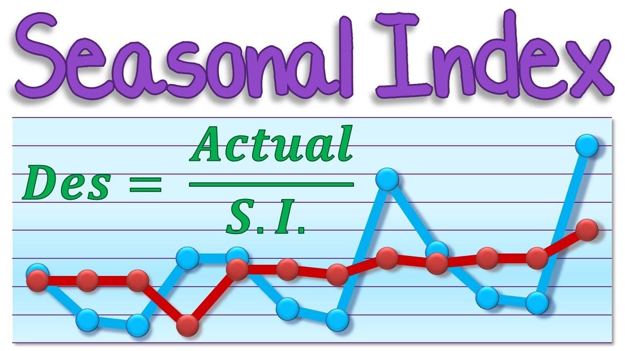 Maths Tutorial Seasonal Indices Seasonal Index