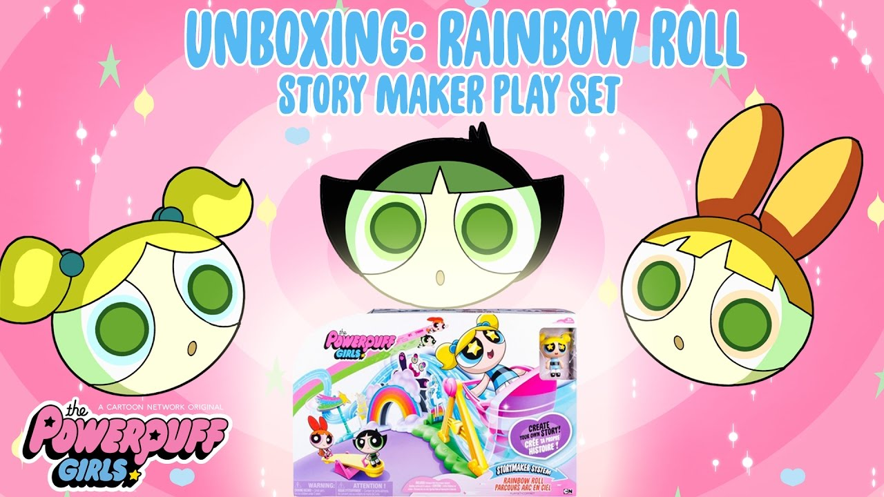 The Powerpuff Girls   UNBOXING: Rainbow Roll Play Set!   Cartoon Network