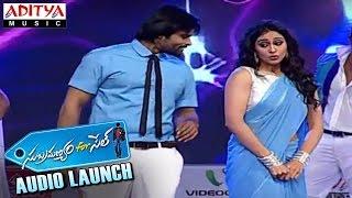 Sai Dharam Tej & Regina Live Performance For Guvva Gorinka Song At Subramanyam for Sale Launch