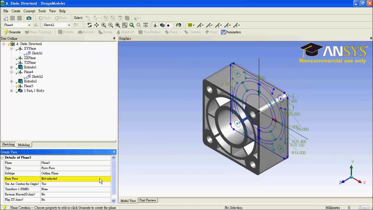 ANSYS Workbench Tutorial   COVER OF PRESSURE CYLINDER