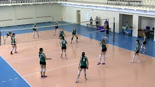 Волейбол обучение. Девушки. Тактика и позиции игроков. Тренировка. Часть 11