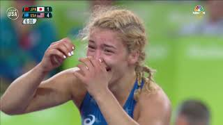 Helen Maroulis Becomes First Woman To Win Wrestling Gold | Gold Medal Moments Presented By HERSHEY'S