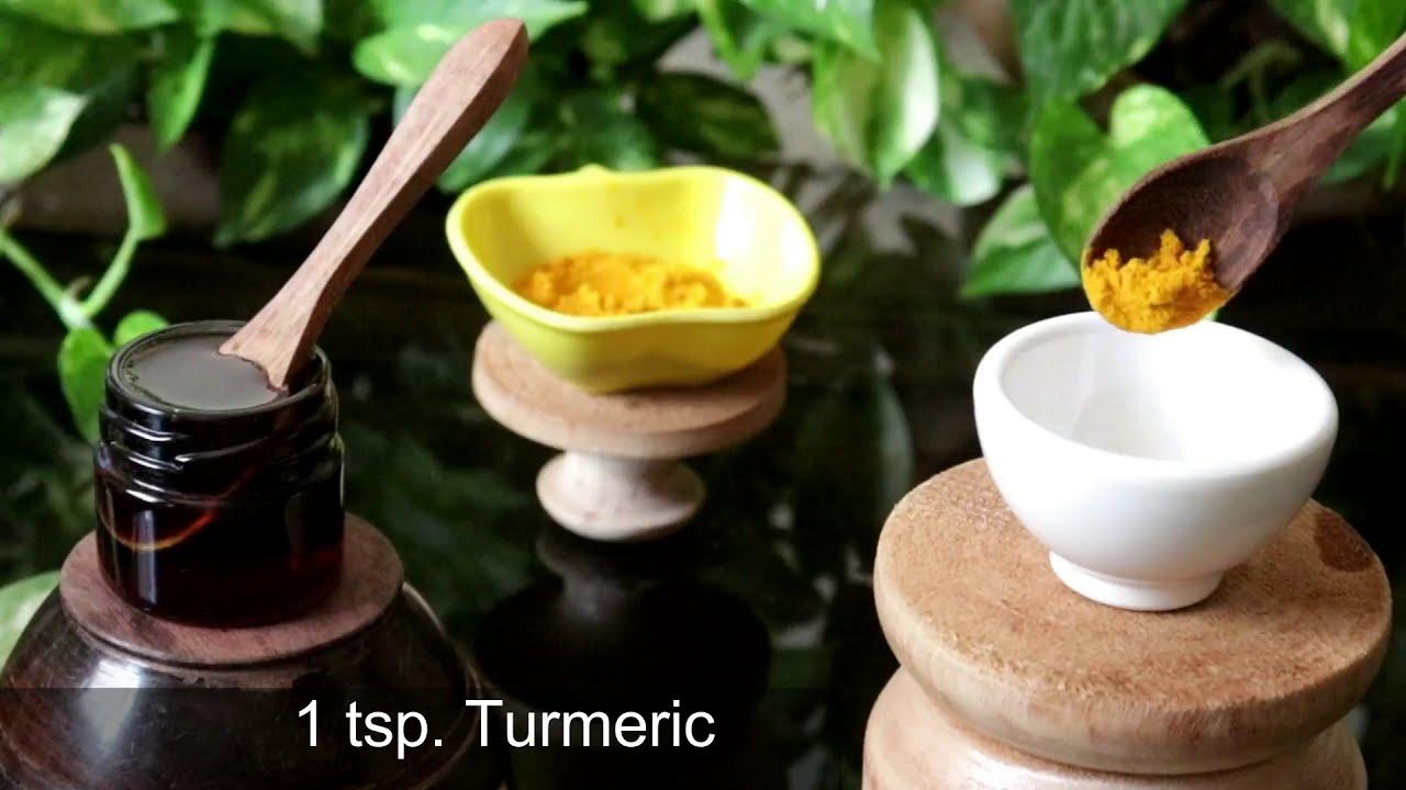GLASS Skin in 5 Days - Turmeric Honey Aloevera Gel Face Pack & Glow Serum, Dark Spots & Bright Skin