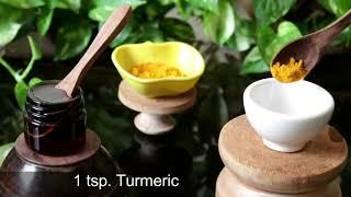 GLASS Skin in 5 Days - Turmeric Honey Aloevera Gel Face Pack &amp Glow Serum, Dark Spots &amp Bright Skin