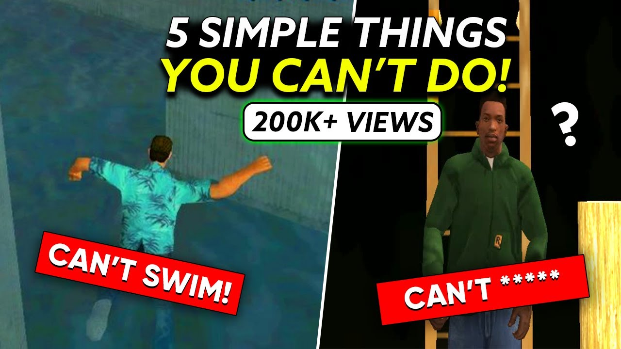 5 Basic Things GTA Characters can't do & why? (No.3 will shock you)