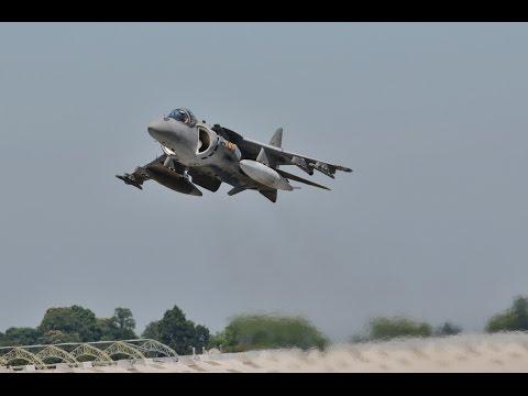 Spanish Navey Sea Harrier Farnborough Airshow 2014