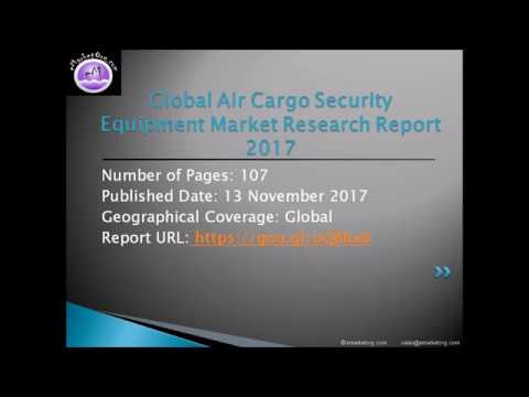 The Air Cargo Security Equipment Market Research Report: Industry Analysis