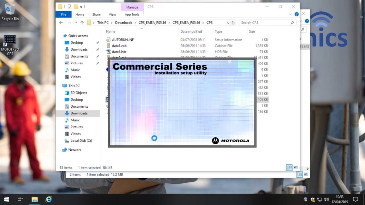 Motorola Cps Software Windows 10