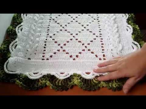 Caminho de mesa de crochê//  Bico Russo Com Passo a Passo #aldacilenecroche