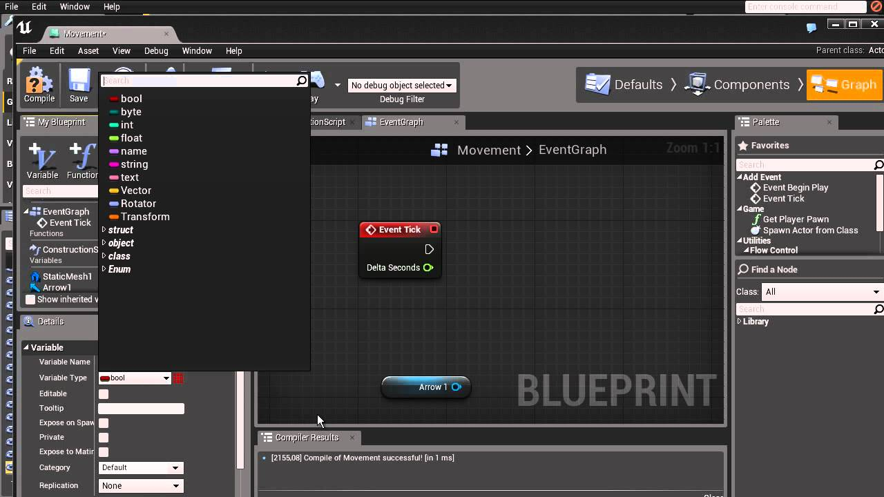 Ue4 blueprints 2 movement and delta time youtube malvernweather Images