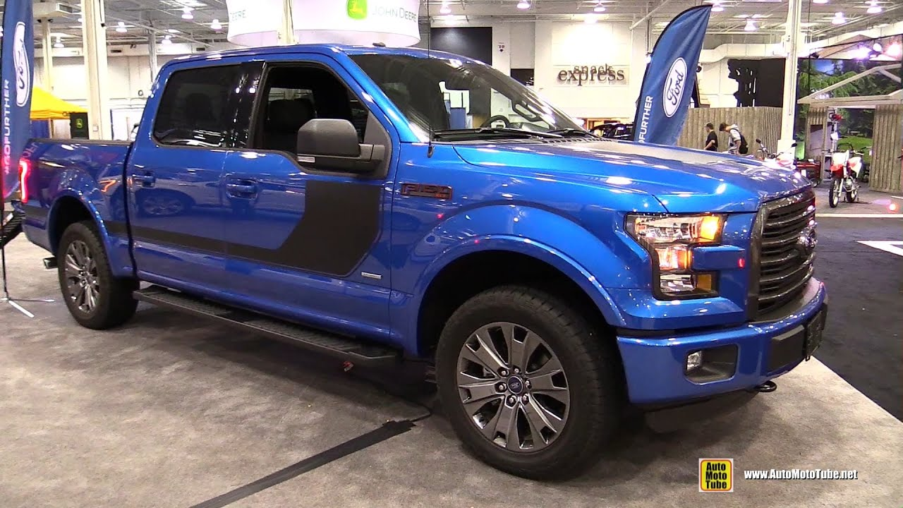 2017 ford f150 xlt sport 4x4 exterior and interior walkaround 2016 paris motor show youtube