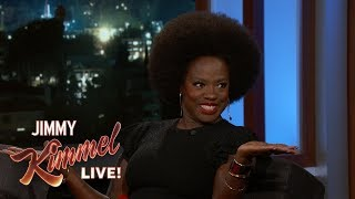 Viola Davis Explains Menopause to Jimmy Kimmel