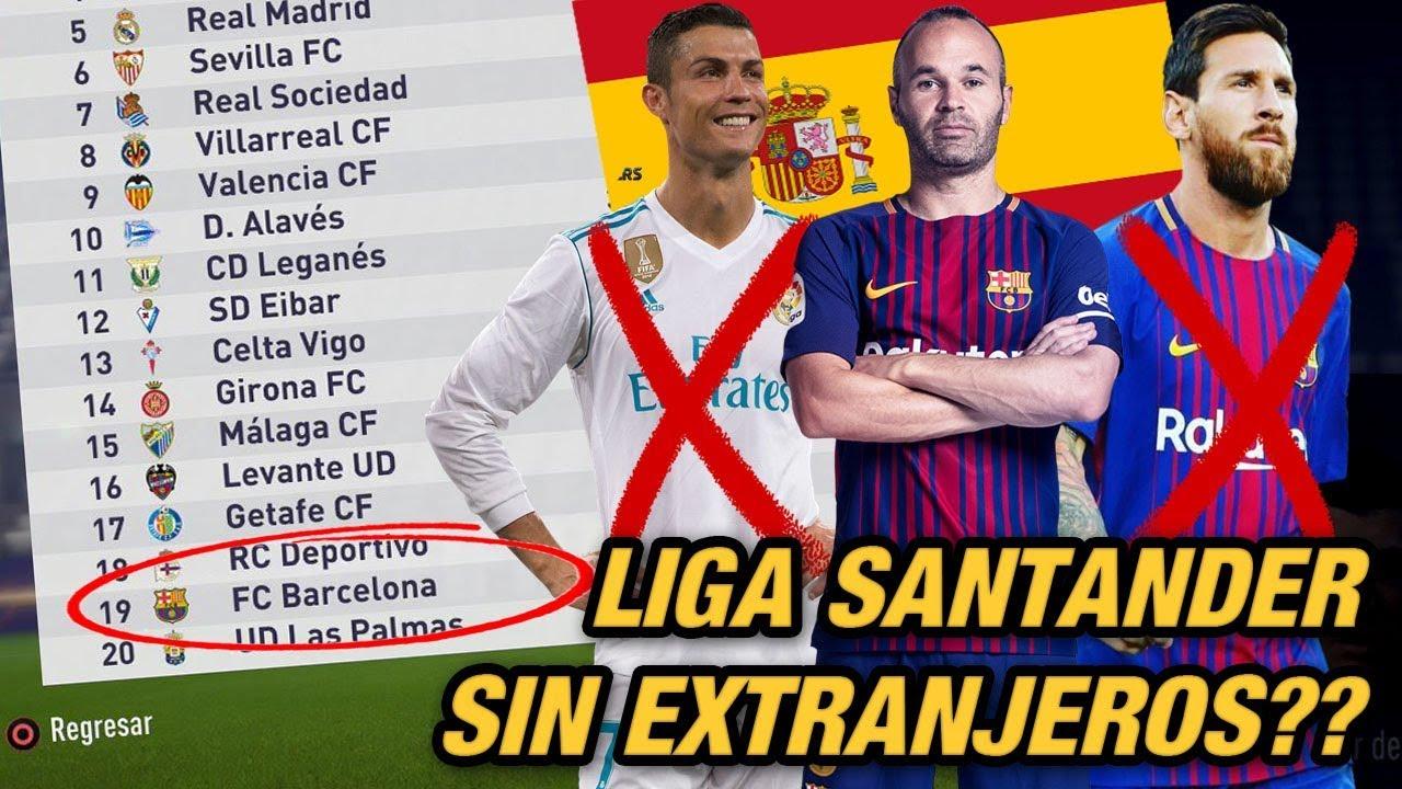 QUE PASARIA SI LA LIGA SANTANDER TUVIERA SOLO JUGADORES DE ESPAÑA?? - FIFA 18 Modo Carrera