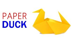 "How To Make ""PAPER DUCK"" UNDER 2 MINUTES SIMPLE PAPER CRAFTS - Origami Arts"