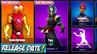 ALL SKINS RELEASE DATE! Fortnite Tender Defender Skin, Taro, Bundles, Item Shops LEAKED KFC Chicken!