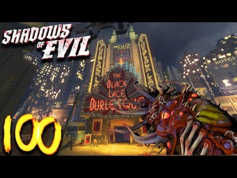 'SHADOWS OF EVIL' ROUND 100 BOSS FIGHT CHALLENGE! (Black Ops 3 Zombies)