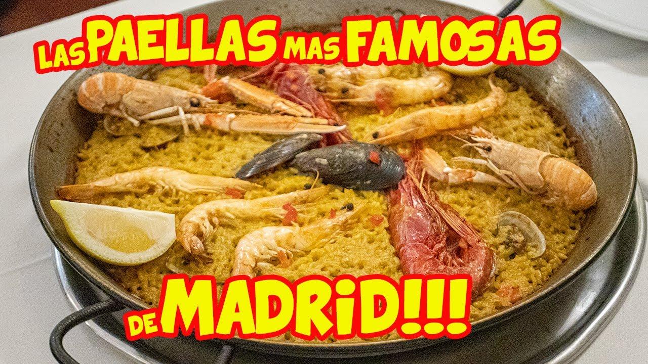 Probando las PAELLAS más FAMOSAS de MADRID - FAMA merecida?