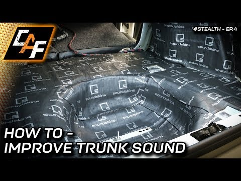 Trunk Sound Treatment Process Explained - Improve your BASS!