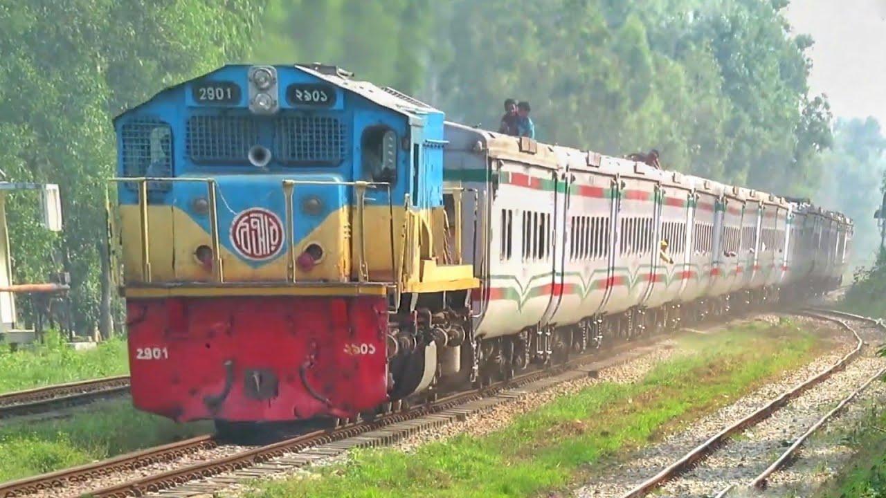 Dhaka Bound Mohanagar Express Train passing chinki Astana Railway Station