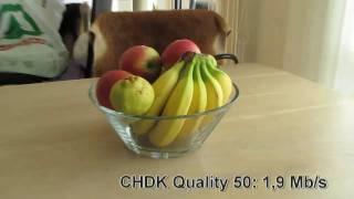 Canon Powershot CHDK compression quality test