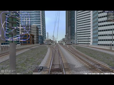VRM5 鉄道模型シミュレータ 自動運転 複々線レイアウト 特別快速(内回り) テスト掲載