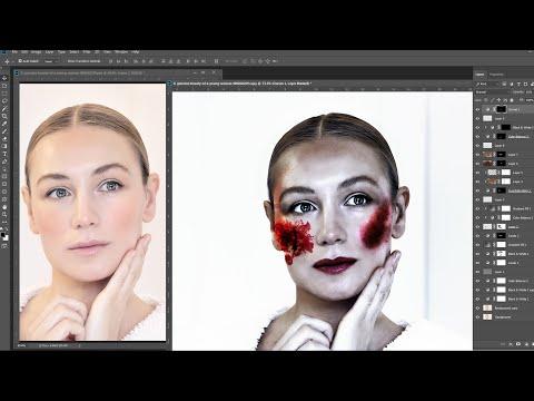 Zombia Photoshop Makeup Tutorials  Photoshop  Halloween Makeup Tutorials   Horror Poster thumbnail