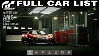 Gran Turismo Sport - Full Car List - Including All Special Cars (15.01.2020)
