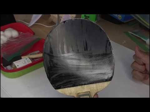 Table tennis rubber olive oil treatment hurricane 3 Neo blue sponge