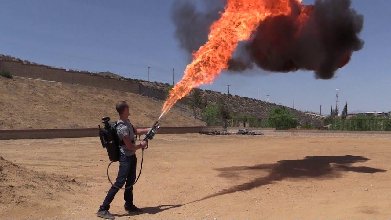 How I Built My Homemade Flamethrower Youtube