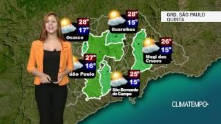 Previsão Grande São Paulo - Ar cada vez mais seco