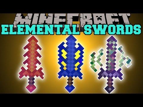 Minecraft: ELEMENTAL SWORDS (UPGRADE SWORDS, SPECIAL EFFECTS, & MORE!) Mod Showcase