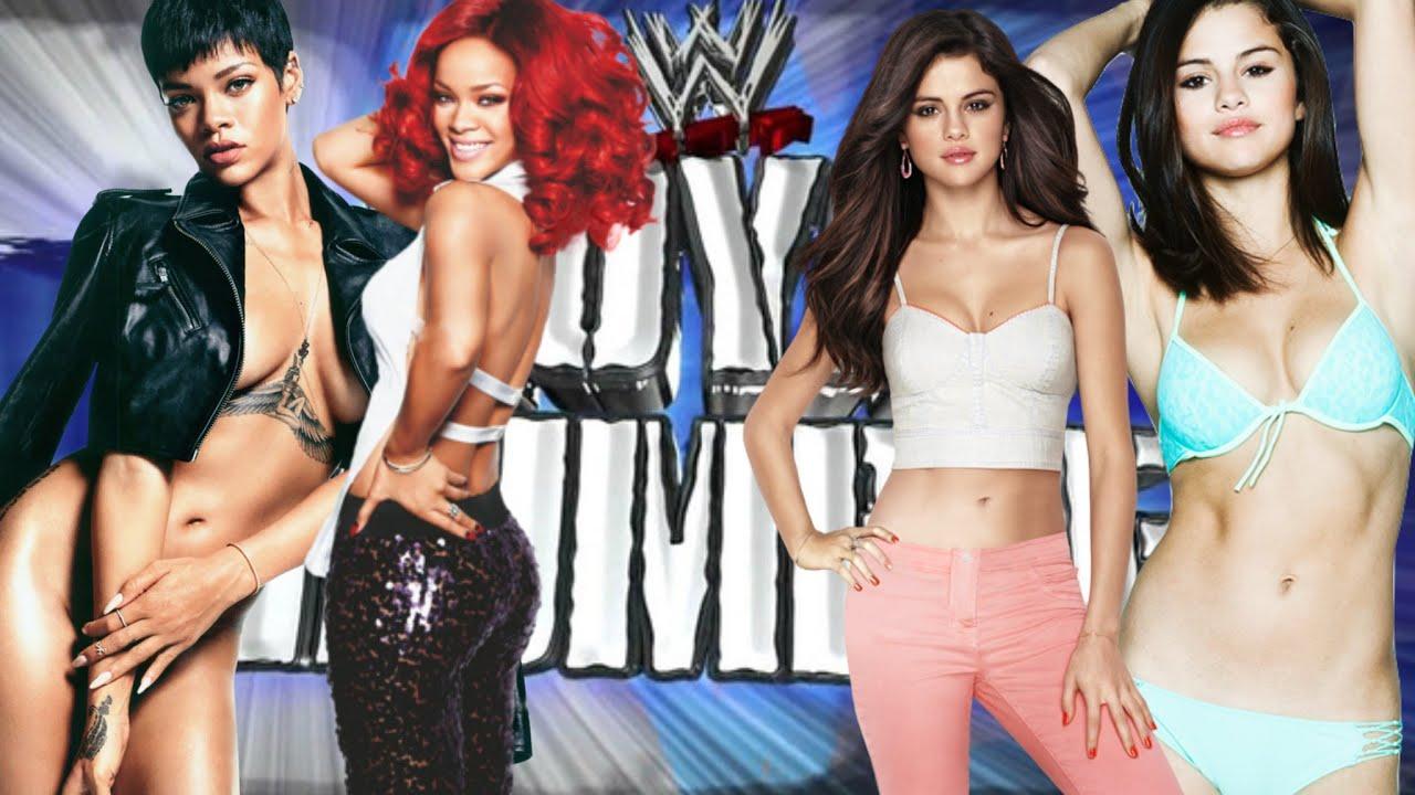 WWE 2K16 Rihanna VS Selena Gomez YouTube