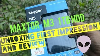 Maxtor M3 1TB Portable Hard disk with USB 3.0 | Unboxing, Review,Opinions | Data transfer test
