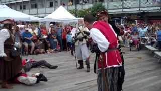 Pirate Attack at the 50th Annual Windjammer Days Festival in Boothbay Harbor, Maine