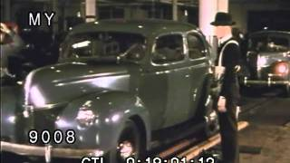 Stock Footage - Automobiles - Ford Promotional Film: Production of 28th Million V8 1940s