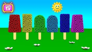 Learn Colors with ice cream. Funny baby - cartoons for children. Video for kids