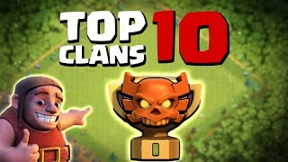 [NEWS] TOP 10 CLANS RANK QUÁN QUÂN 1| TOP 10 CLANS CHAMPION 1 | Clash of clans
